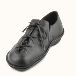 Cette noire lacet cuir de couleur en chaussure à est fleur pleine shrdtQ